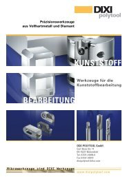 KUNSTSTOFF BEARBEITUNG - Diamant Werkzeug GmbH