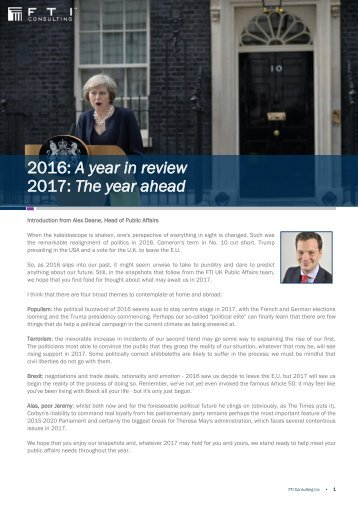 2016 A year in review 2017 The year ahead