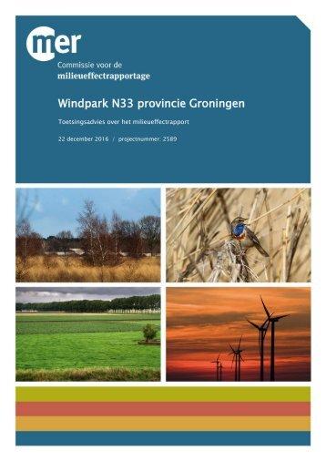 Windpark N33 provincie Groningen