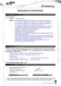 Declaration of Conformity - Page 6