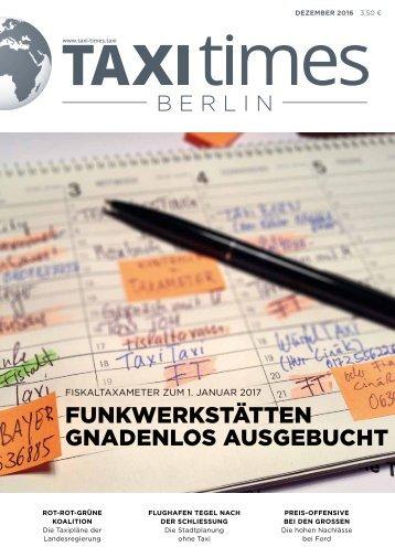 Taxi Times Berlin - Dezember 2016