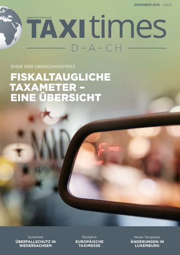 Taxi Times DACH - Dezember 2016