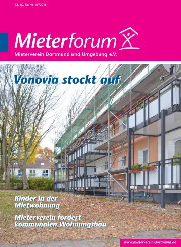 Mieterforum Dortmund - Ausgabe IV/2016 (Nr. 46)