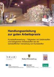 Kunststoffverwertung - Tätigkeiten mit Gefahrstoffen und ...