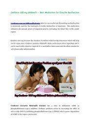 Cenforce 100 mg Tablets overcome Impotence problem @GenericEPharmacy