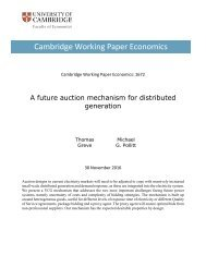 Cambridge Working Paper Economics