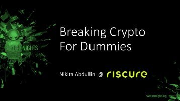 Breaking Crypto For Dummies