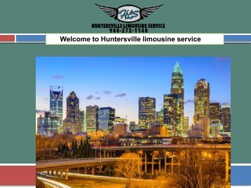 Welcome to Huntersville limousine service