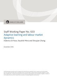 Staff Working Paper No 633 Adaptive learning and labour market dynamics