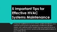 5 Important Tips for Effective HVAC Systems Maintenance in NJ