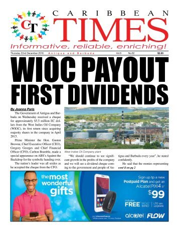 Caribbean Times 62nd Issue - Thursday 22nd December 2016