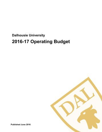 2016-17 Operating Budget