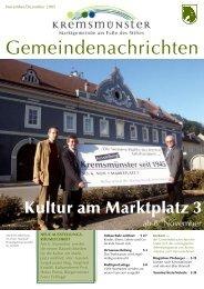 Gemeindenachrichten November/Dezember 2005 - Marktgemeinde ...