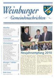 Neues vom Roten Kreuz - Gemeinde Weinburg