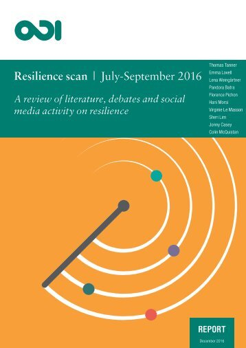 Resilience scan | July-September 2016