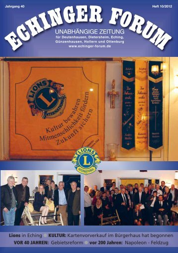 Echinger Forum 10/2012