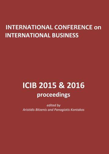 ICIB 2015 & 2016