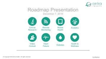 Entra Roadmap December 2017 presentation
