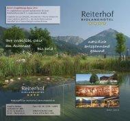 Sommerprospekt 2012/2013 - Bio-Landhotel Reiterhof