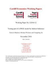 Cardiff Economics Working Papers