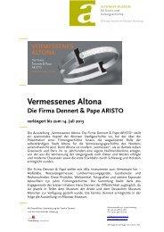 Vermessenes Altona Die Firma Dennert & Pape ... - Altonaer Museum