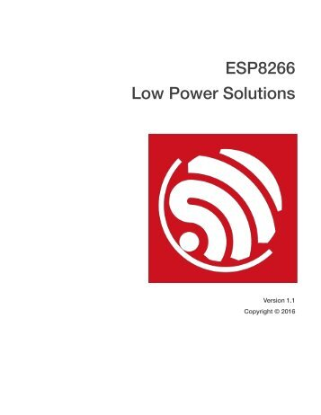 ESP8266 Low Power Solutions