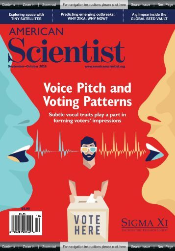 American Scientist - Voice Pitch And Votting Pattern