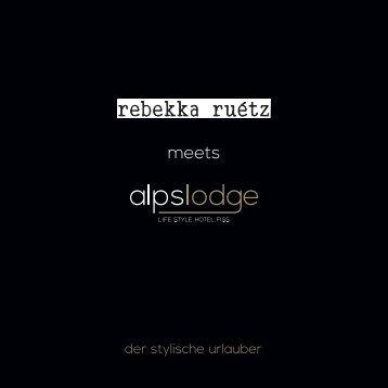 rebekka ruetz meets alpslodge - folder