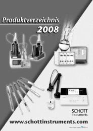SCHOTT Instruments Produktverzeichnis 2008