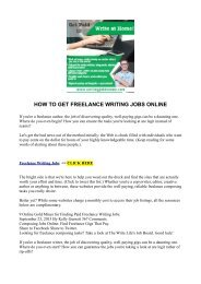 HOW TO GET FREELANCE WRITING JOBS ONLINE