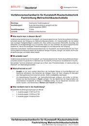 Verfahrensmechaniker/in für Kunststoff ... - Planet Beruf.de