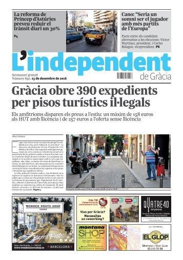 Gràcia obre 390 expedients per pisos turístics il·legals