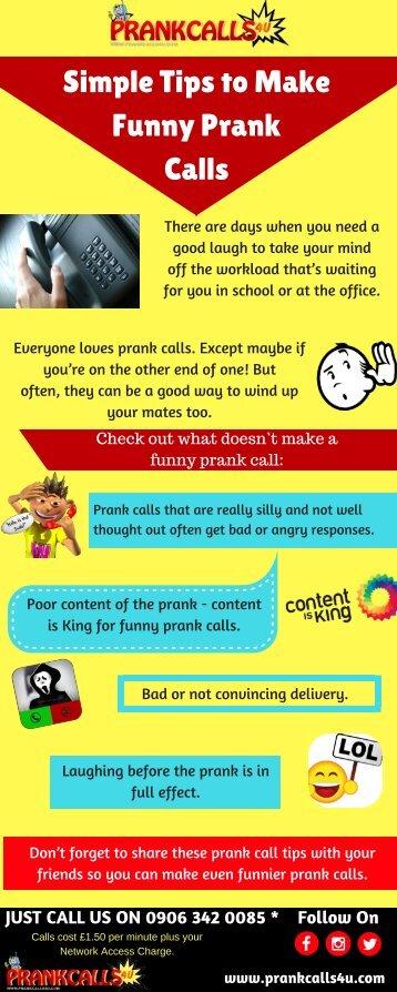 Ideas to make a Funny Prank Call