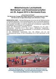 und Einzelmeisterschaften am 29. August 2010 in Bernkastel-Kues