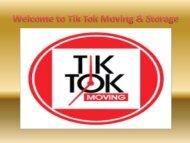 Welcome to Tik Tok Moving & Storage|| TikTok Moving