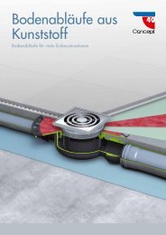 Bodenabläufe aus Kunststoff - Bergmann & Franz