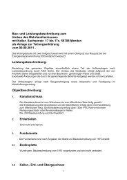 detaillierte Baubeschreibung als PDF