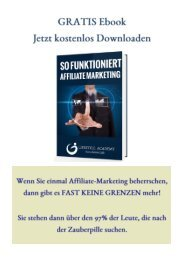 GRATIS Ebook-So funktioniert Affiliate Marketing