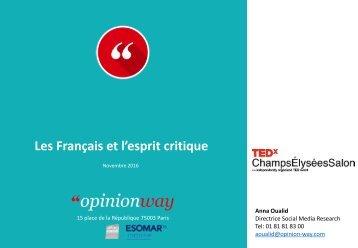 Les Français et l'esprit critique