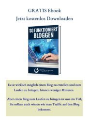 GRATIS Ebook-So funktioniert Bloggen