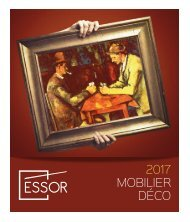 CATALOGUE ESSOR MOBILIER DECO 2017