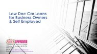 Low Doc Car Loans for Business Owners Australia
