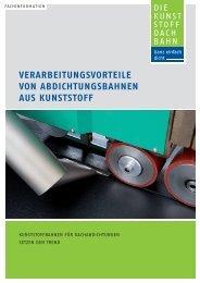 Verarbeitungsvorteile von Abdichtungsbahnen aus Kunststoff