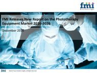 Phototherapy Equipment Market Dynamics, Segments and Supply Demand 2016-2026