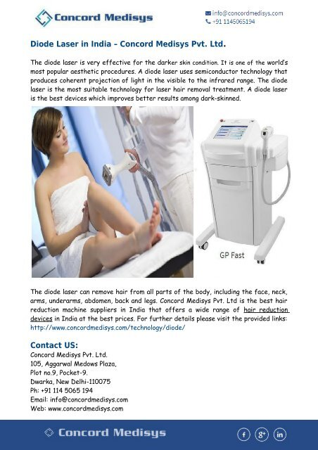 Diode Laser In India Hair Removal Device In India