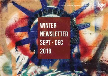 winter NEWSLETTER sept - dec 2016