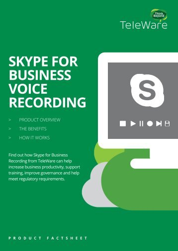 SKYPE FOR BUSINESS VOICE RECORDING
