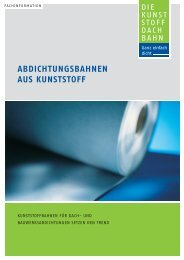 ABDICHTUNGSBAHNEN AUS KUNSTSTOFF - Industrieverband ...