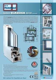 System CLASSICA AD 82 Kunststoff - W+D Fensterfreund