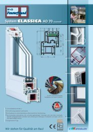 System CLASSICA AD 70 Kunststoff - W+D Fensterfreund